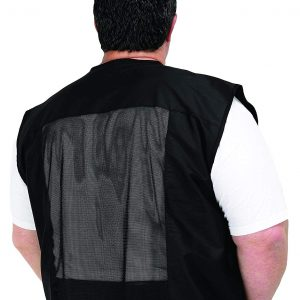 A Size Above Big & Tall Vented Mesh Back Barber Vest